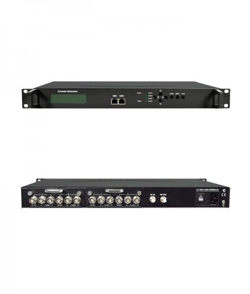Digital Modulator, 19 Inch Rack 4 Input CVBS-SVHS-YPBPR To DVB-T MPEG2 RF In RF Out