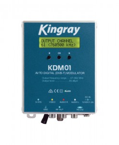Kingray Digital Modulator AV to Digital DVB-T, CVBS/S-VHS, VHF/UHF, Including 12V Power Supply
